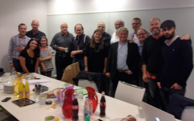 Table read at Tre Vänner with all the fantastic voice artists for the Bamse feature.